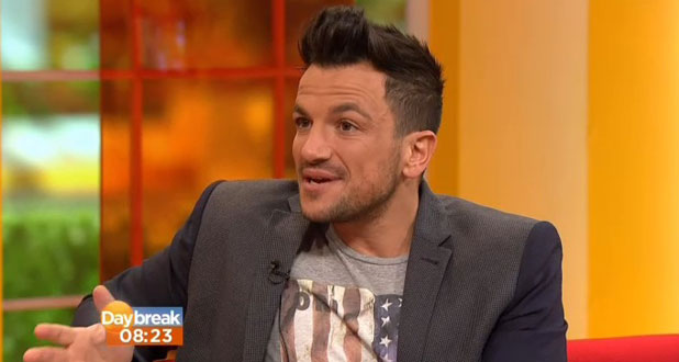 Peter Andre appearing on ITV's Daybreak in London, 4 February 2014