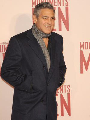 George Clooney at the premiere of The Monuments Men, London, 11 February 2014