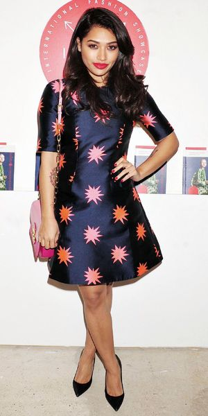 Vanessa White steps out at the International Fashion Showcase event in London - 13 February 2014