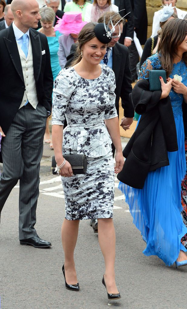 Pippa Middleton attends the wedding of Lady Melissa Percy and Thomas van Straubenzee, St Mary's Church, Alnwick, Northumberland, Britain - 22 June 2013