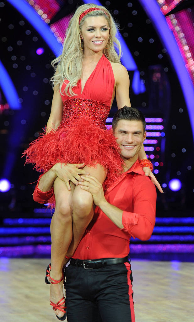 Abbey Clancy and Aljaz Skorjanec - Strictly Come Dancing tour in Birmingham, England, 16 January 2014