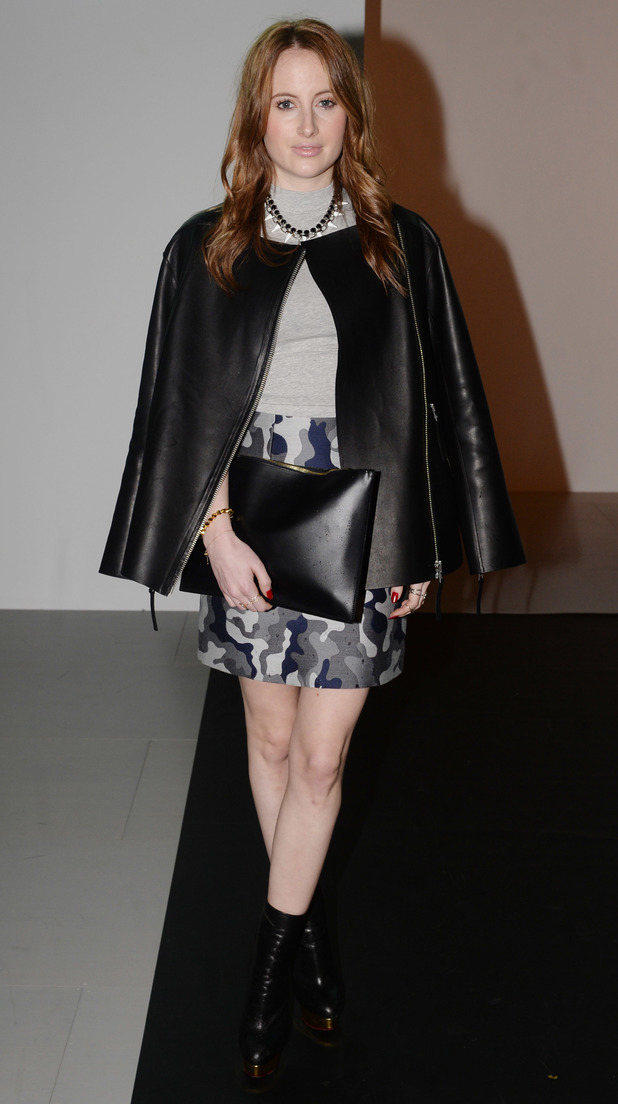 MIC's Rosie Fortescue steps out at Somerset House for London Fashion Week - 14 February 2014