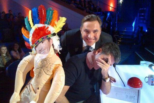 Britain's Got Talent judges Simon Cowell and David Walliams wind each other up at auditions (1 February 2014).