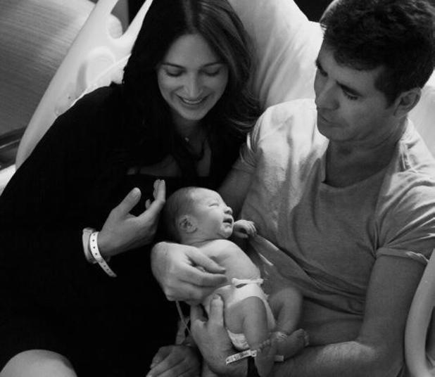 Simon Cowell presents his newborn son Eric to his Twitter followers, 16 February 2014