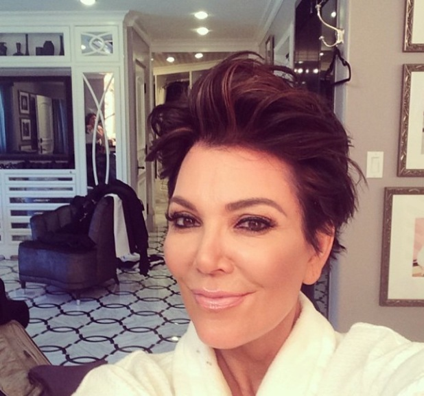 Kris Jenner quiff hairstyle - 12.2.2014