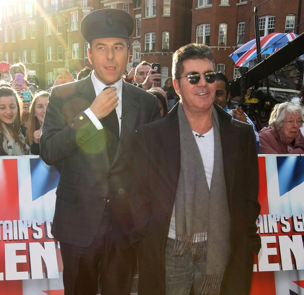 'Britain's Got Talent' TV show auditions, London, Britain - 11 Feb 2014 David Walliams and Simon Cowell