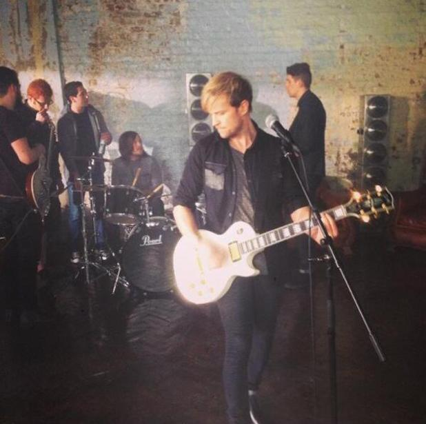 Kian Egan shares a photo from his debut music video - 11 February 2014