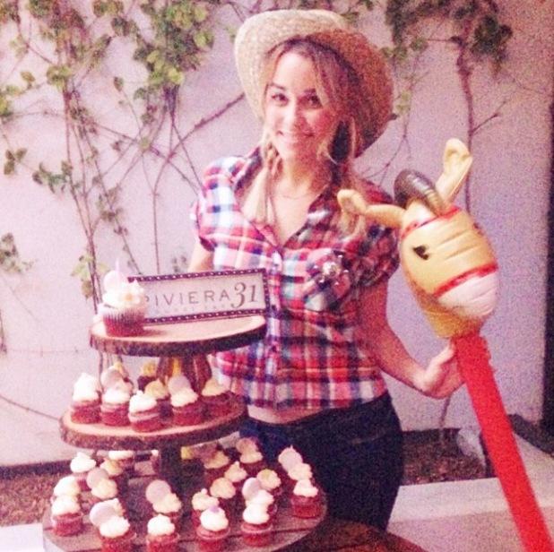 "Lauren Conrad celebrates 28th birthday with cowboy ""hoedown"" - 7.2.2014"