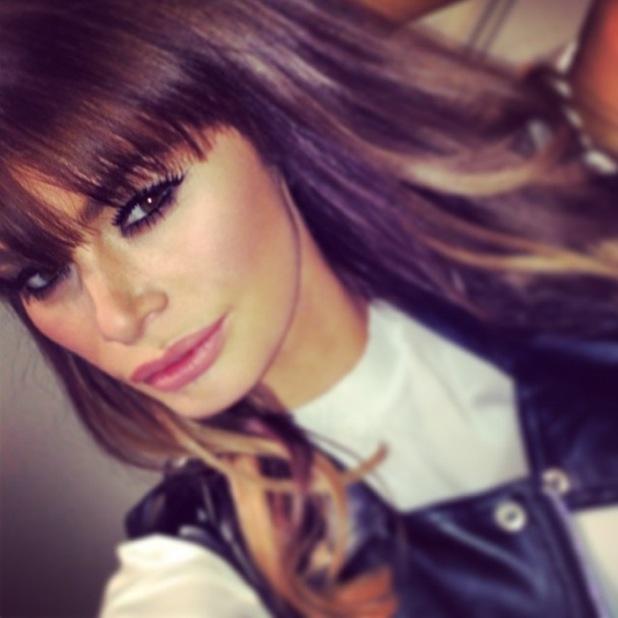 TOWIE's Chloe Sims takes an Instagram selfie - 17 January 2014