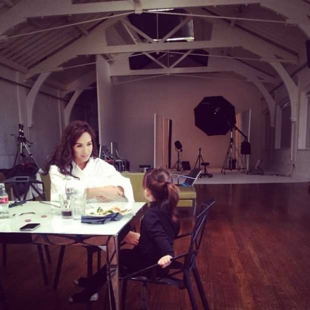 Myleene Klass pictured during Littlewoods lingerie shoot - 13 Feb 2014