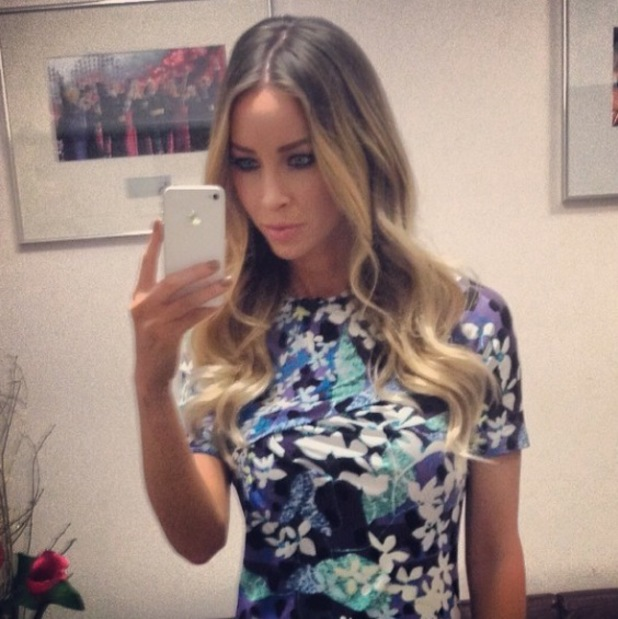 Lauren Pope poses for a selfie after This Morning - 14 Feb 2014