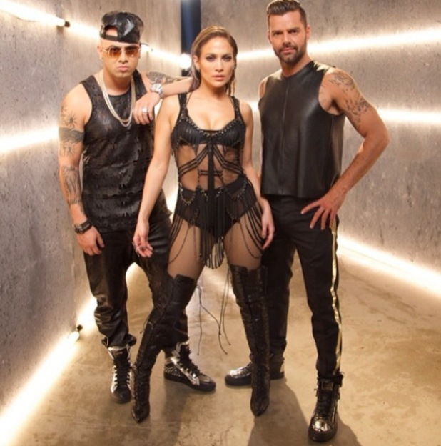 JLo and Ricky Martin on set of their new video for 'Adrenalina' - February 2014