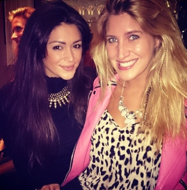 Made In Chelsea star Cheska Hull parties with Celebrity Big Brother star Casey Batchelor (13 February).