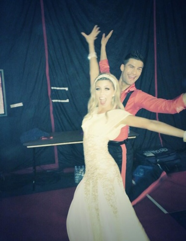Abbey Clancy poses backstage during the Strictly Come Dancing tour in Birmingham - 19 January 2014