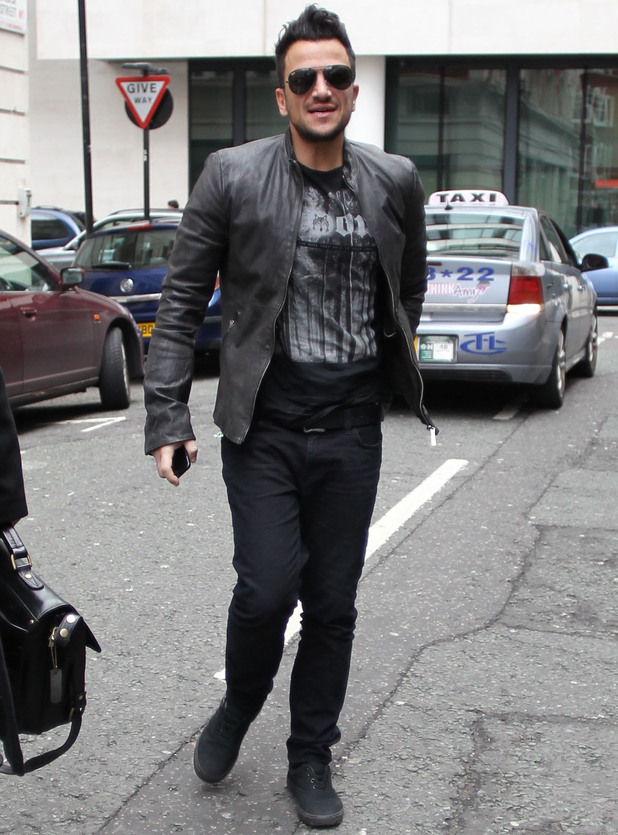 Peter Andre seen arriving for The Terry Wogan Show - 9 Feb 2014