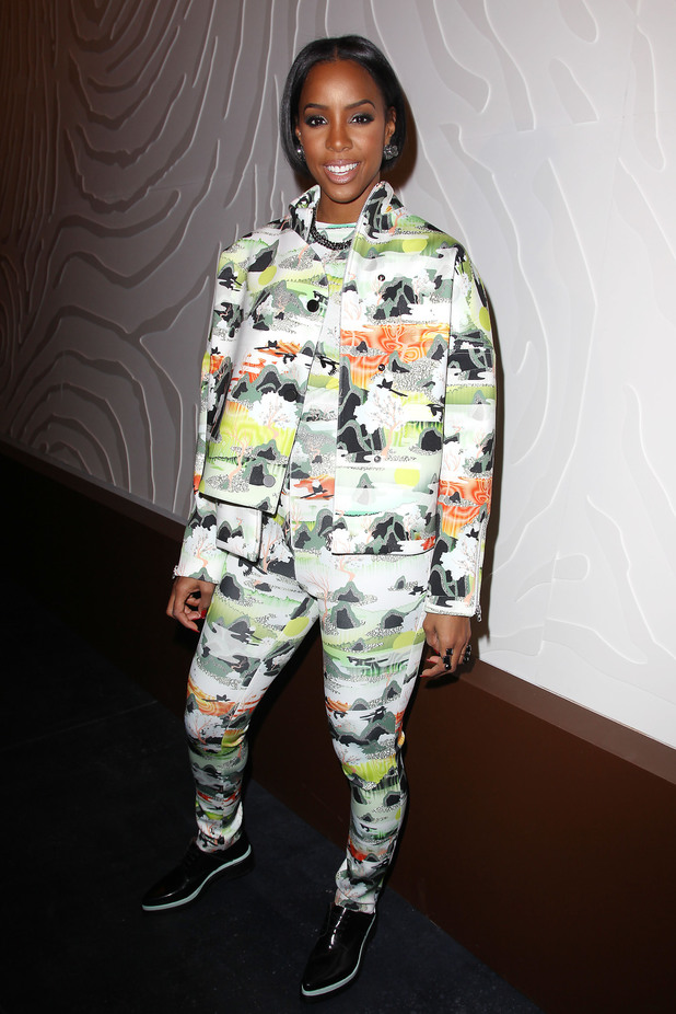 Opening Ceremony show, Autumn Winter 2014 Mercedes-Benz Fashion Week, New York, America - 09 Feb 2014 Kelly Rowland