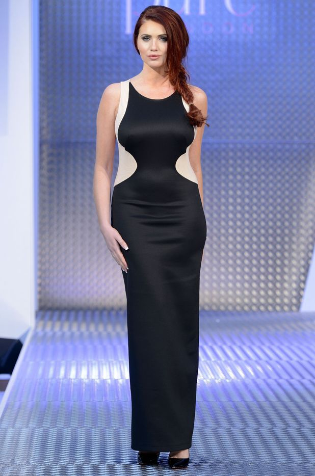 Amy Childs - Pure London Fashion Trade show held at the Olympia, London, Britain - 10 February 2014