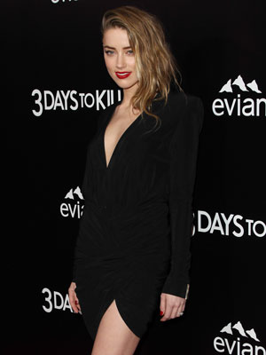 Amber Heard at the premiere of 3 Days To Kill, Los Angeles, 12 February 2014