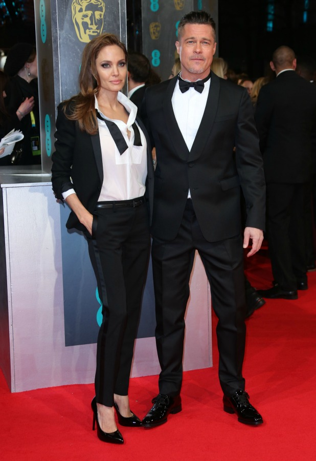 BAFTA 2014 arrivals, 16 February 2014 Angelina Jolie and Brad Pitt