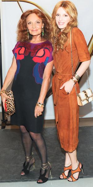 Bella Thorne at the Diane Von Furstenberg show on 9 February 2014