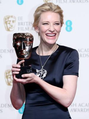 Cate Blanchett, EE British Academy Film Awards, Press Room, Royal Opera House, London, Britain - 16 Feb 2014
