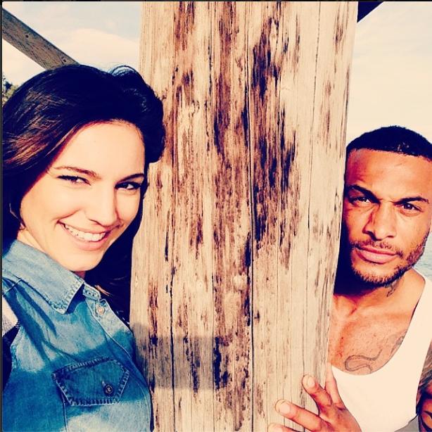 Kelly Brook and her boyfriend in Miami, Feb 14