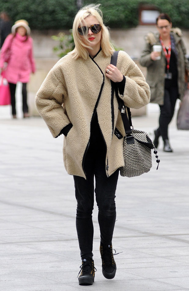 Fearne Cotton arriving at Radio 1, 12 February 2014