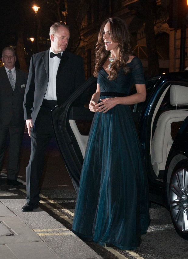 Kate Middleton arriving at the National Portrait Gallery, 11 February 2014