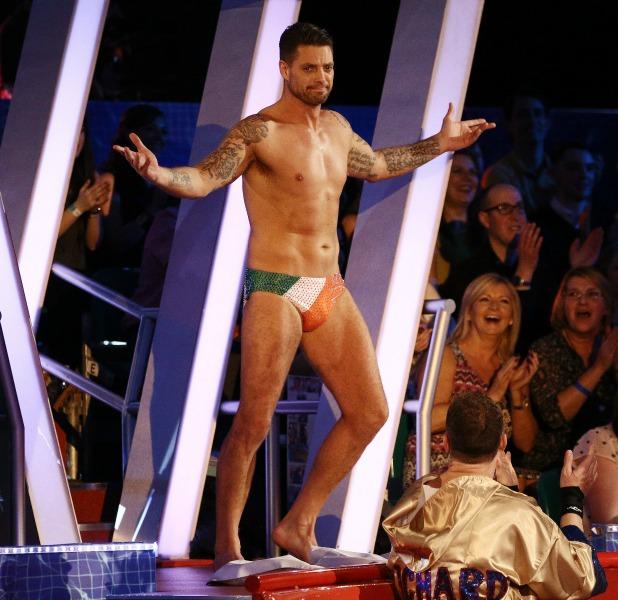 Keith Duffy on 'Splash' TV Programme, Luton, Britain. - 15 Feb 2014