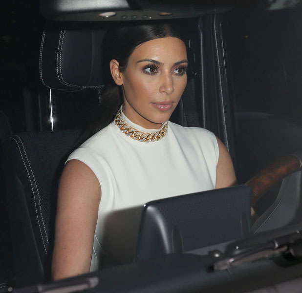 Kim Kardashian leaving Bel Bambini in Los Angeles after shopping with pregnant Ciara, 12 February 2014