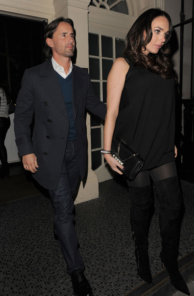Pregnant Tamara Ecclestone and her husband Jay Rutland enjoy an evening out in Mayfair, 13 February 2014