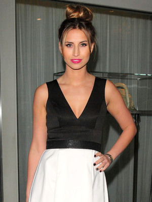 TOWIE's Ferne McCann at Tanya Burr Lips and Nails launch party at the Sanderson Hotel, London 01/30/2014
