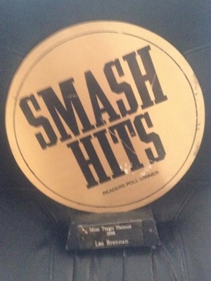 Lee Brennan shares picture of his 1998 Smash Hits award: 21 Feb 2014