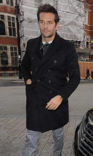 Bradley Cooper heads in to a London hotel