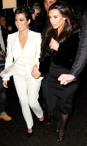 Kourtney Kardashian and Kim Kardashian out and about, New York, America - 16 Feb 2014