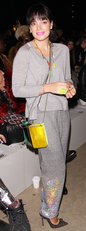 Lily Allen at the Ashish AW14 show at London Fashion Week - London, 17th February 2014