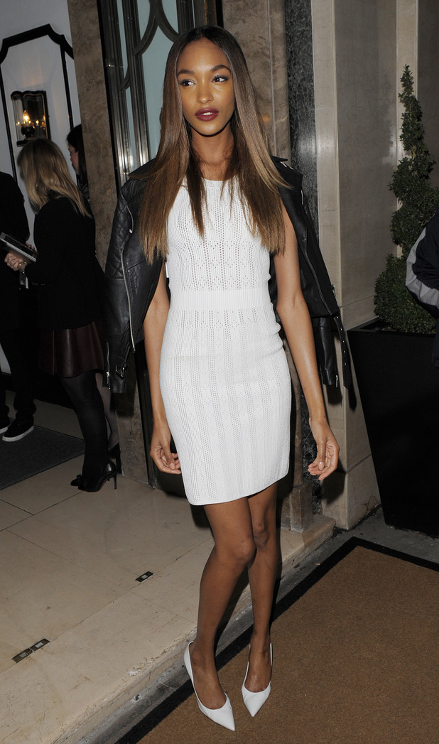 London Fashion Week Autumn/Winter 2014 - Mulberry Dinner at Claridge's to celebrate the launch of the Cara Delevingne Collection - 16.2.2014 Jourdan Dunn