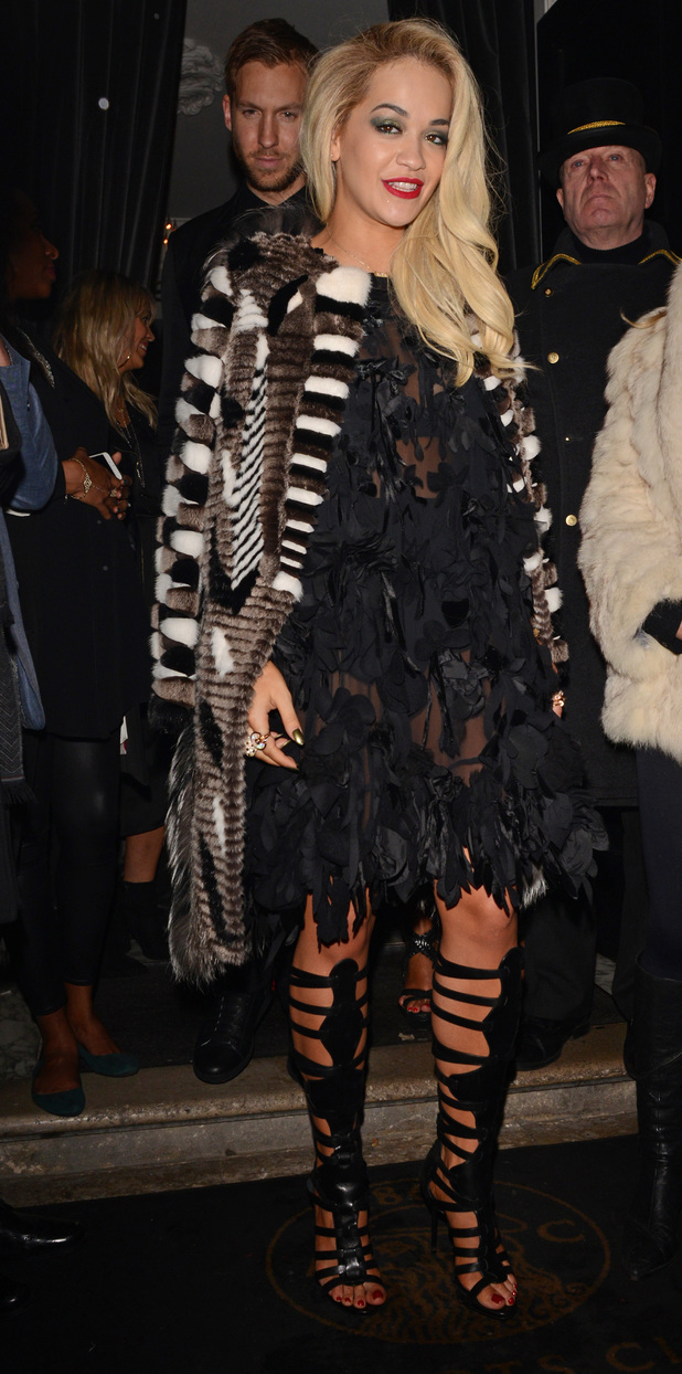 Rita Ora leaving BRIT Awards 2014 Sony Music After Party, London