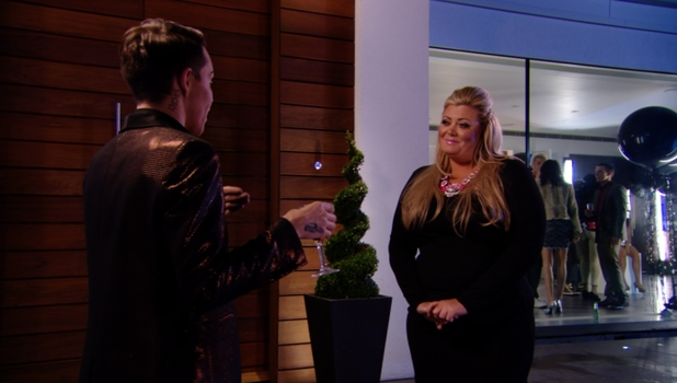 Bobby Norris and Gemma Collins try to resolve their differences on TOWIE, Sunday 23 February