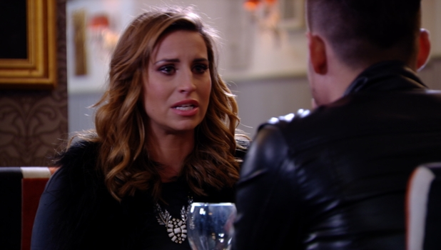 Ferne McCann in tears during heart-to-heart with Charlie Sims on TOWIE, Sunday 23 February