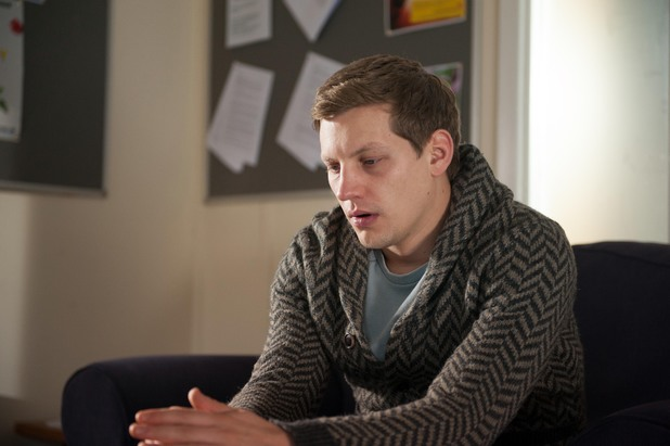 Hollyoaks, JP gets counselling, Wed 19 Feb