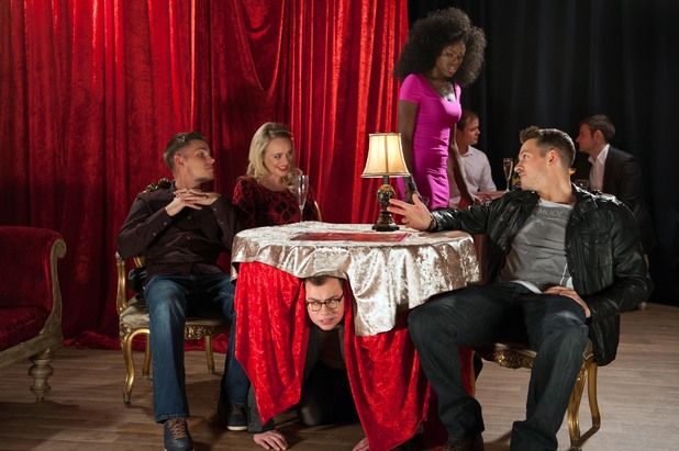 Hollyoaks, strip club high-jinx, Fri 21 Feb