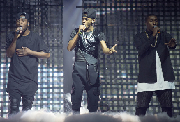Rough Copy - The X Factor Live Tour first night at the Odyssey Arena Belfast 02/15/2014 Belfast, United Kingdom