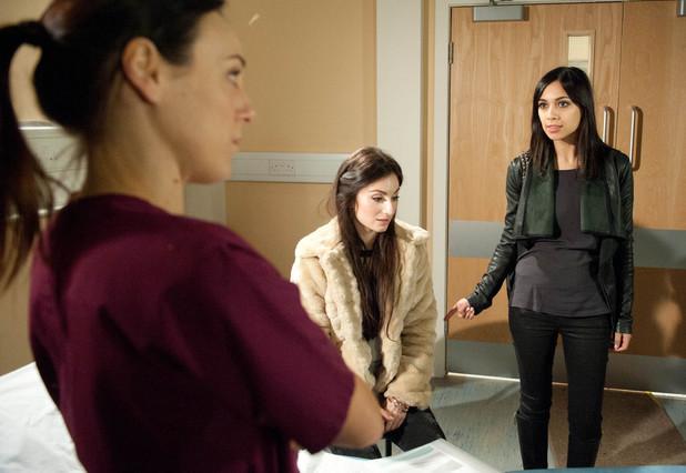 Emmerdale, Priya has a scan, Mon 24 Feb