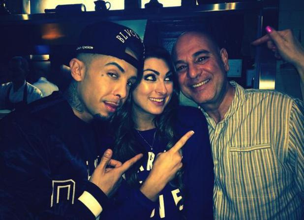 Celebrity Big Brother stars Dappy and Luisa Zissman dine out in London (19 February).