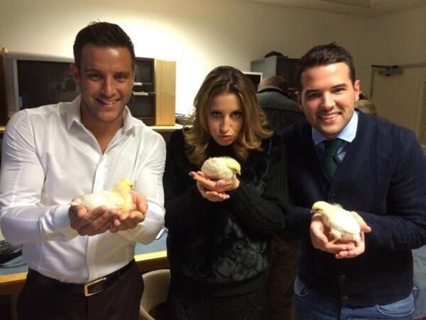 Ricky Rayment, Elliott Wright, Ferne McCann at ITV This Morning studios - 21/2/2014