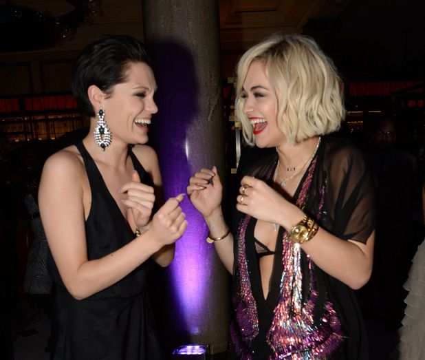 Jessie J and Rita Ora at The Weinstein Co, Entertainment and Pathe Post BAFTA Party hosted by Bvlgari and Grey Goose at Rosewood, London, Britain - 16 Feb 2014