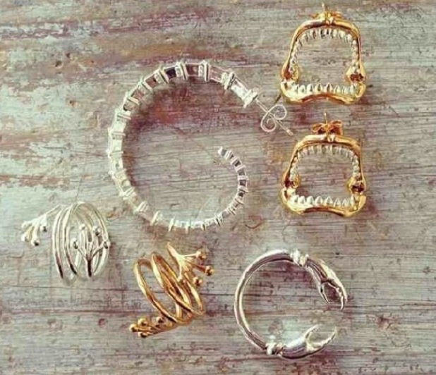 Lucy Watson posts photos of her Creature jewellery line - February 2014