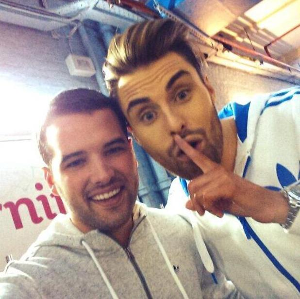 Ricky Rayment meets Rylan Clark at ITV's This Morning studios - 21/2/2014