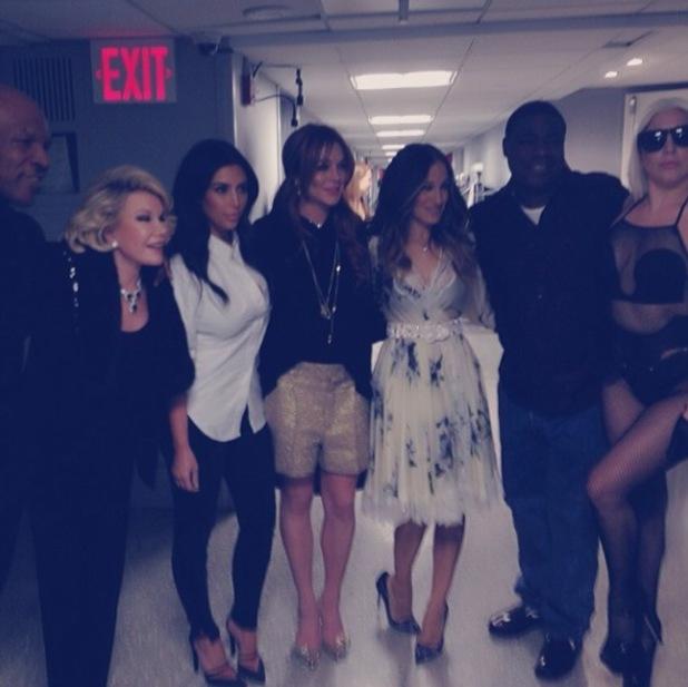 Kim Kardashian on The Tonight Show with Sarah Jessica Parker, Lindsay Lohan, Joan Rivers, Tracy Morgan and Lady Gaga. - 17.2.2014